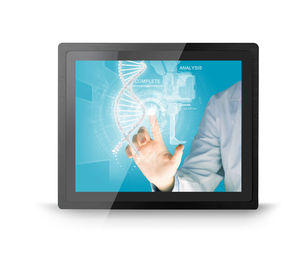 15'' Industrial Touch Screen Monitor Panel / Embedded Mount With 10 Multi Touch Points